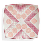 Arrows and Circles Ceramic Plate | Marguerita Mergentime