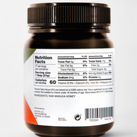 Activist Raw Manuka Honey 300+ Nutritional Information