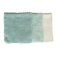 Bianca Lorenne Knitted Cotton Washcloths Set of 3 Duck Egg Blue Colours