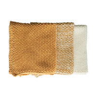 Bianca Lorenne Knitted Cotton Washcloths Set of 3 Ochre Yellow Colours