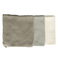 Bianca Lorenne Knitted Cotton Washcloths Set of 3 Taupe Colours