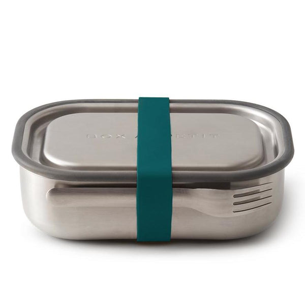 Box Appetit Stainless Steel Lunch Box Closed with Ocean Strap