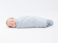 Baby Wrapped in Merino Kids Cocooi Babywrap Set in Turtle Dove