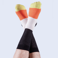 Doiy Sushi Socks Salmon Lovers On Model