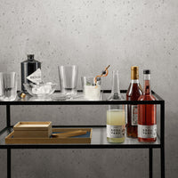 Eva Solo Glass Faceted Tumbler in Home Bar Context