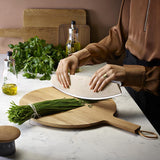 Eva Solo Nordic Wooden Cutting Board Preparing Herbs In Kitchen