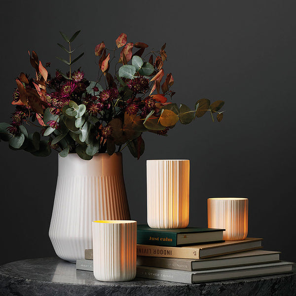 Porcelain Tea Light Holder with LED | Eva Solo
