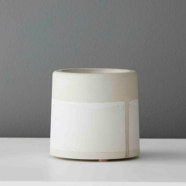 Fume Small Concrete Bell Pot in Natural Concrete