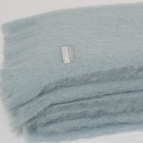 Masterweave Mohair Throw in Glacier- Light Blue/Grey