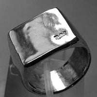 H+W Branded Square Face Signet Ring | HerbertandWilks