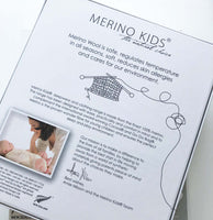 merino kids babywrap packaging back of box