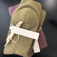 General Sleep Bed Socks with Tag Stacked