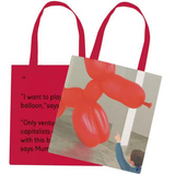 We Go To The Gallery I Want to Play With The Balloon Tote Bag Front and Back