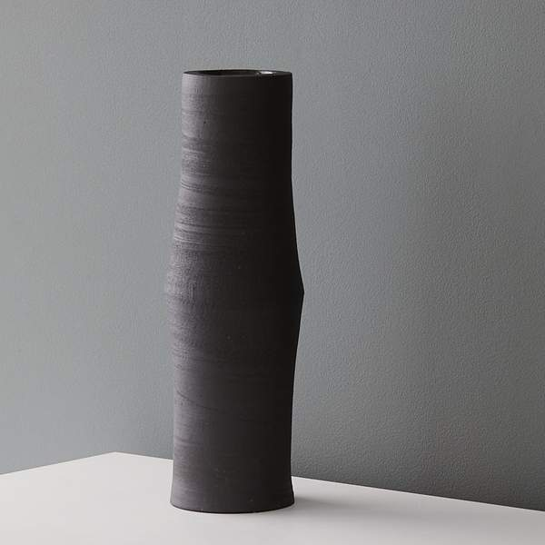 Margi Nuttall Black Tall Vase MN07