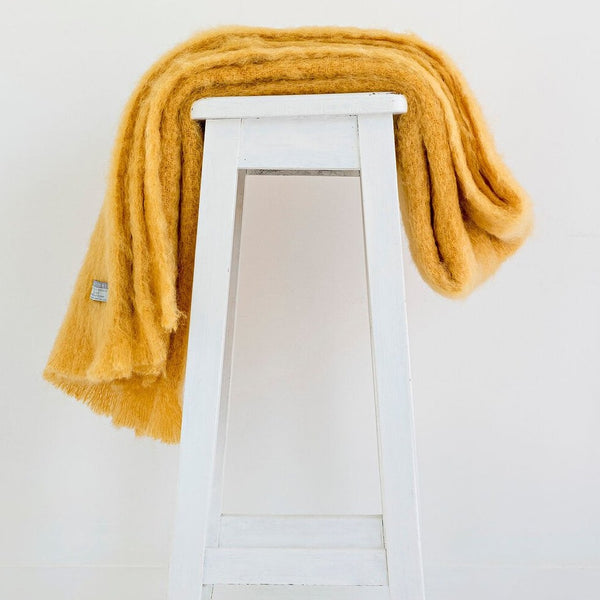 Mohair Throw - Ochre | Masterweave