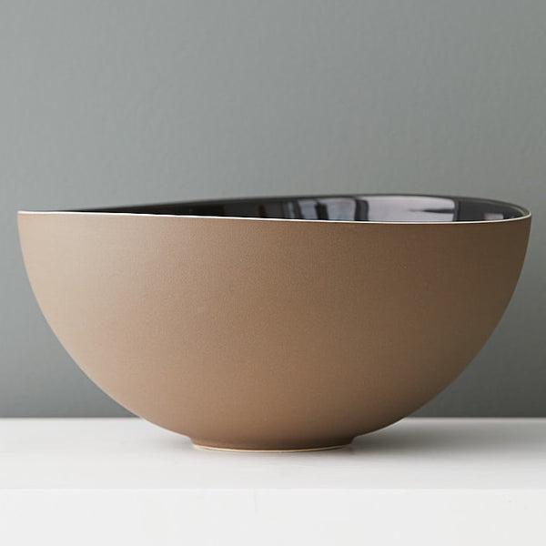 Susannah Bridges Large Shadow Bowl in Sandstone Brown