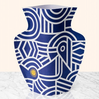 Octaevo Mediterranean Greco Paper Flower Vase Close Up