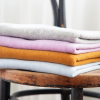 Laing Jasper Cashmere Tee Lavender Toffee Grey Marle Stack