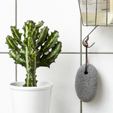 Meraki Pumice Stone with Leather String Hanging in Shower
