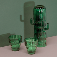 Doiy Saguaro Cactus Green Glasses with Stack