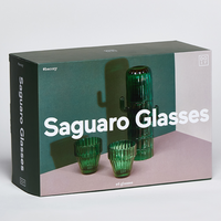 Doiy Saguaro Cactus Glasses In Box Packaging