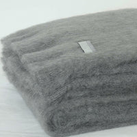 Masterweave Mohair Throw in Slate Grey Square Crop