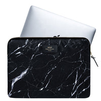 Wouf Laptop Sleeve Black Marble with Laptop