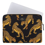Wouf Laptop Sleeve in Black Leopard with Laptop