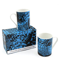 Yayoi Kusama Late Night Chat Is Filled With Dreams Bone China Mug Set of 2