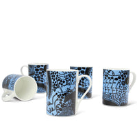 Yayoi Kusama Late Night Chat Is Filled With Dreams Bone China Mug Set of 4