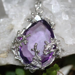 Zora Bell Boyd Twig Pendant with Amethyst and Recycled Silver