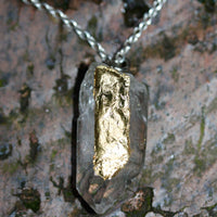 Rock On Necklace with Fine Gold Leaf | Zora Bell Boyd