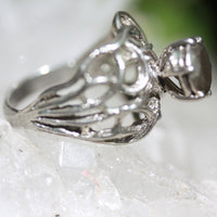 My Fine Vined Stone Ring - Recycled Silver | Zora Bell Boyd