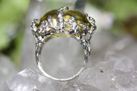 Zora Bell Boyd Seaweed Ring - Lemon Quartz