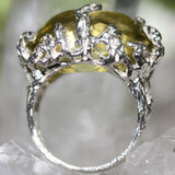 Zora Bell Boyd Seaweed Ring - Lemon Quartz crop