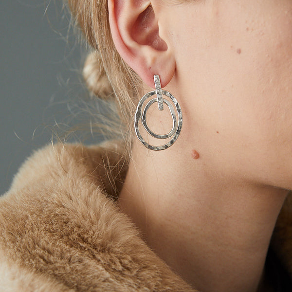 HerbertandWilks Concentric Organic Circle Stud Earrings