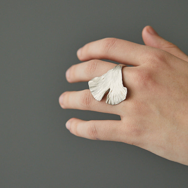 HerbertandWilks Ginkgo Leaf Ring