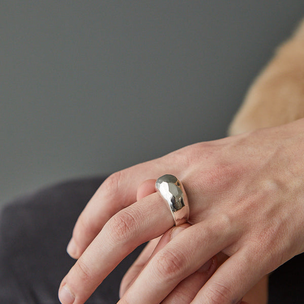 HerbertandWilks Organic Heavy Ring being worn