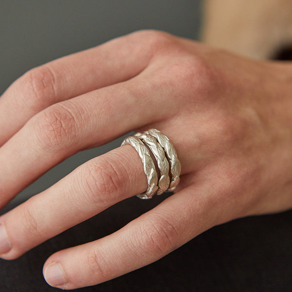 HerbertandWilks Revealed- Silver Leaf Stacking Ring