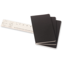 Moleskine Cahier Unlined Journal Set of Three Black Stacked