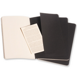Moleskine Cahier Unlined Journal Set of Three Black Inside Back Cover