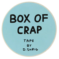 David Shrigley Box of Crap Packing Tape Front View