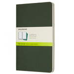 Moleskine Cahier Unlined Journal Set of Three Mrytle Green Front Cover