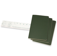 Moleskine Cahier Unlined Journal Set of Three Mrytle Green Stacked