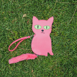 David Shrigley Embroidered Cat Purse