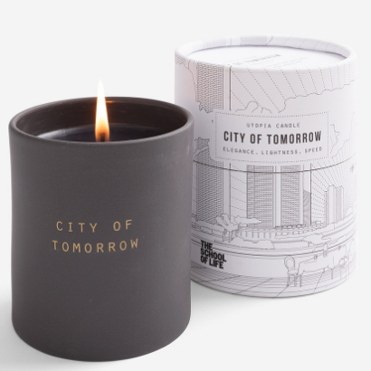 The School of Life The City of Tomorrow Utopia Scented Candle in Ceramic Jar