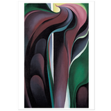 Georgia O'Keeffe Jack-in-Pulpit Abstraction-No.5 Notecard