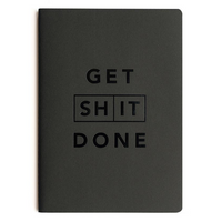 MiGOALS Get Shit Done A6 Classic Notebook in Black front cover