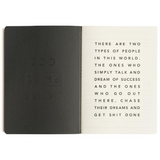 MiGOALS Get Shit Done A6 Classic Notebook in Black inside front cover