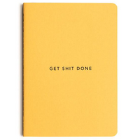 MiGOALS Get Shit Done A6 Notebook Yellow Front Cover